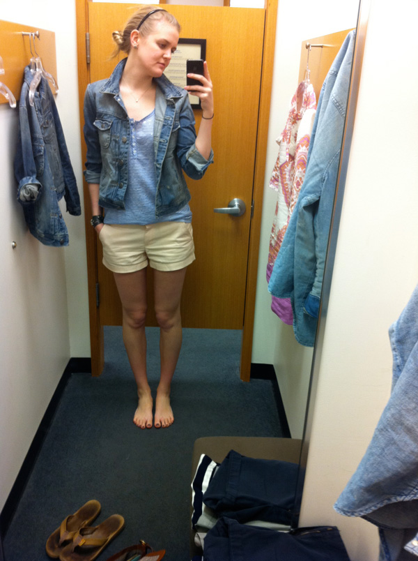 J crew factory women's denim jacket