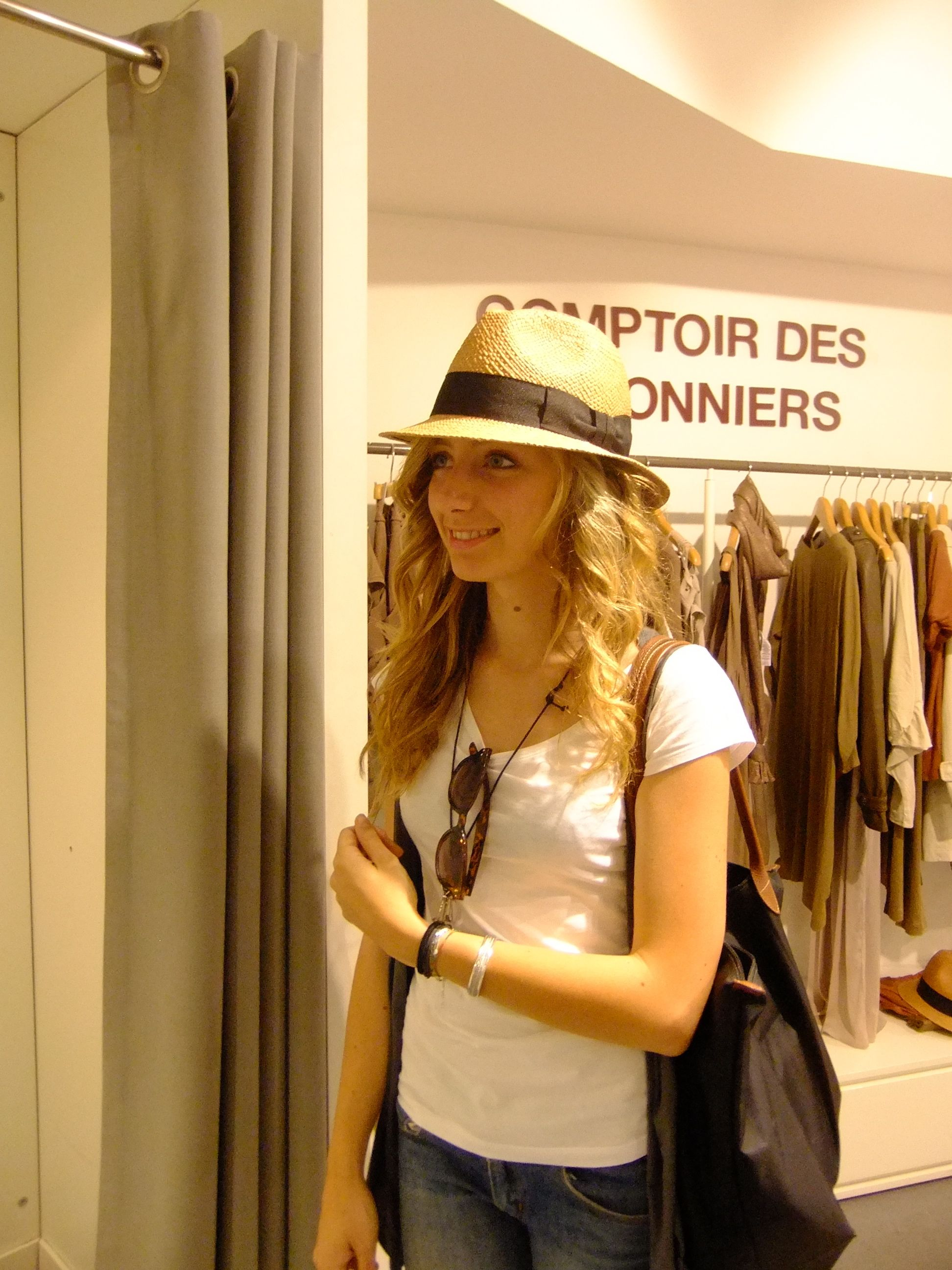 b6bfdbbb84ce1 The first hat by Comptoir des Cotonniers is a fedora with a gros grain  black hatband