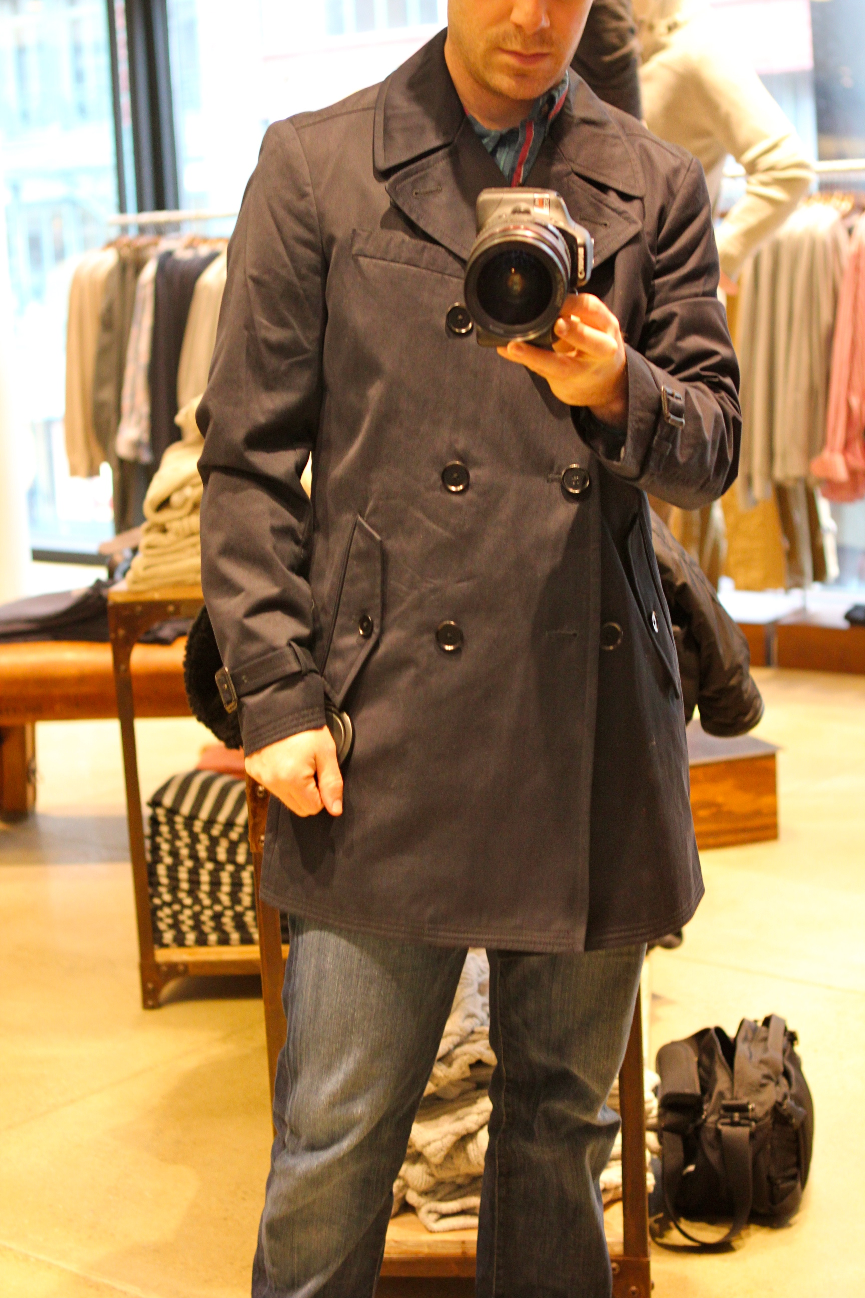 Banana Republic Classic Navy Topcoat